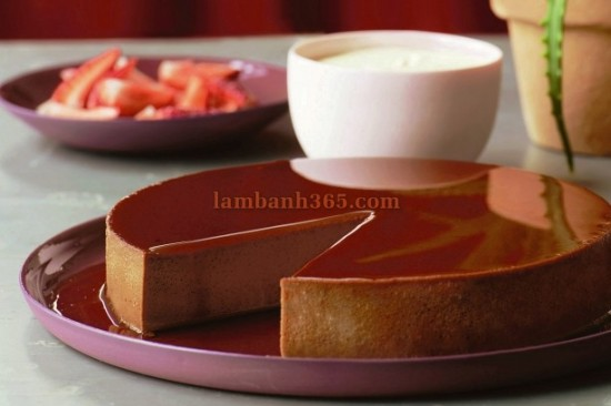 hoc cach lam banh flan chocolate homemade ngon tuyet cu meo 2