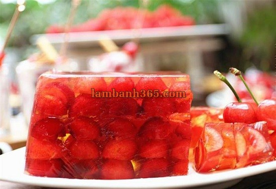 cach lam banh pudding cherry don gian